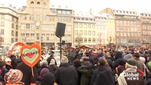 Vigil held in Strasbourg for victims of Christmas market attack
